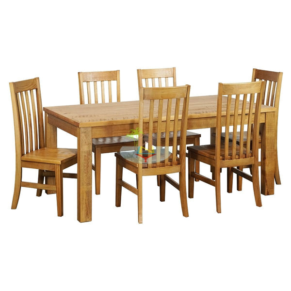 Vincent# Birchwood Dining Suite | 1.8M Table&6 Chairs