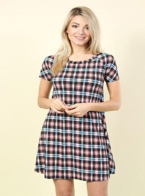 Plus checkers dress