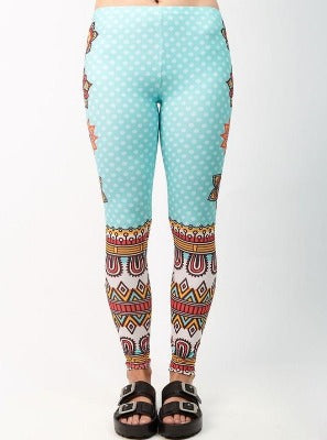 Mandala dots leggings