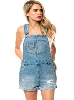 Pick Me Always Short Denim Overall