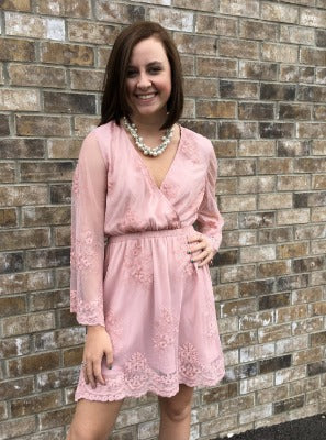 Blushing Lacey Lace Dress