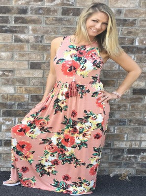Blush Rush Maxi Floral Dress