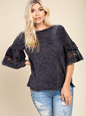 Distressed Mary Top