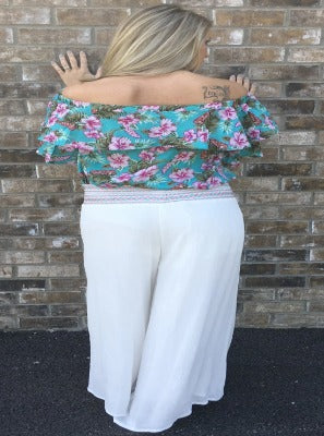 Angelic Embroidered Tie Palazzo Pant