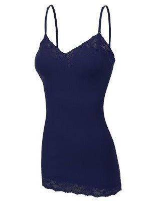 Lace Cami Navy