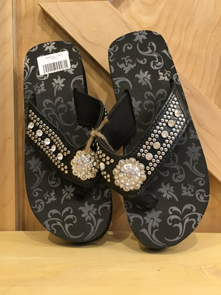 Sparkle Fun Flip Flop Black