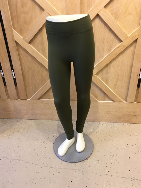 Plus Leggings Fleece Olive