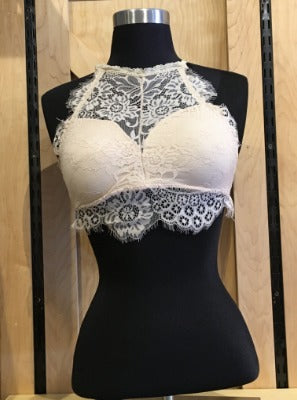 Lace Bralette Tan