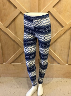 Blue Fair Isle leggings