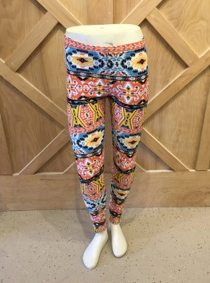 Aztec Yummy Brush leggings