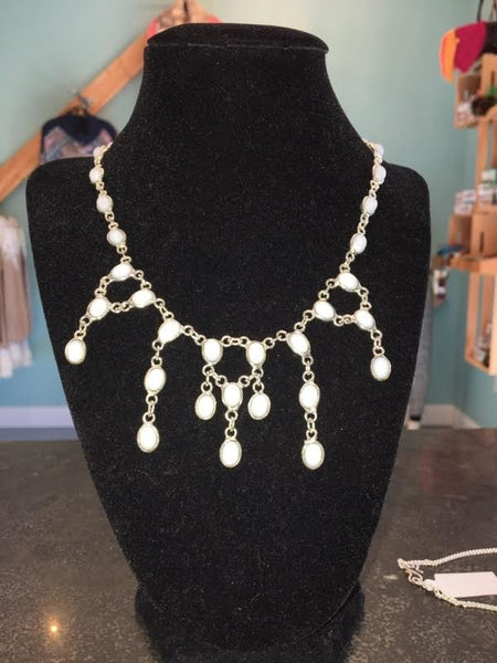 White Quarry Stone Necklace