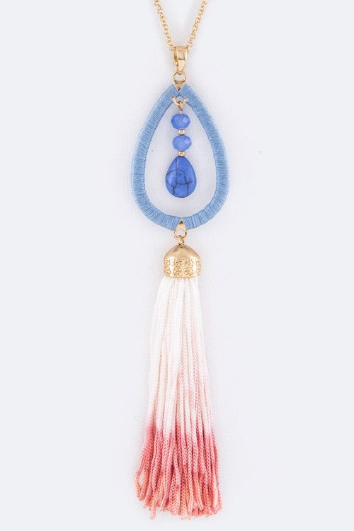 Tassel Necklace with earrings