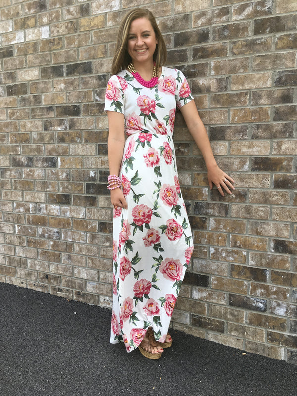Run for Roses Maxi Dress