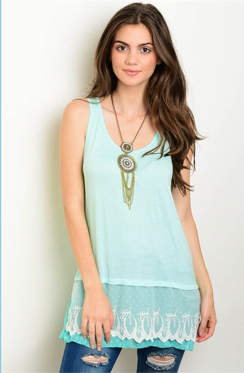 Sea Green Tank Top