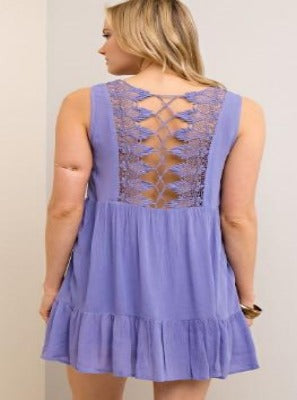 Lavender Back Detail Dress