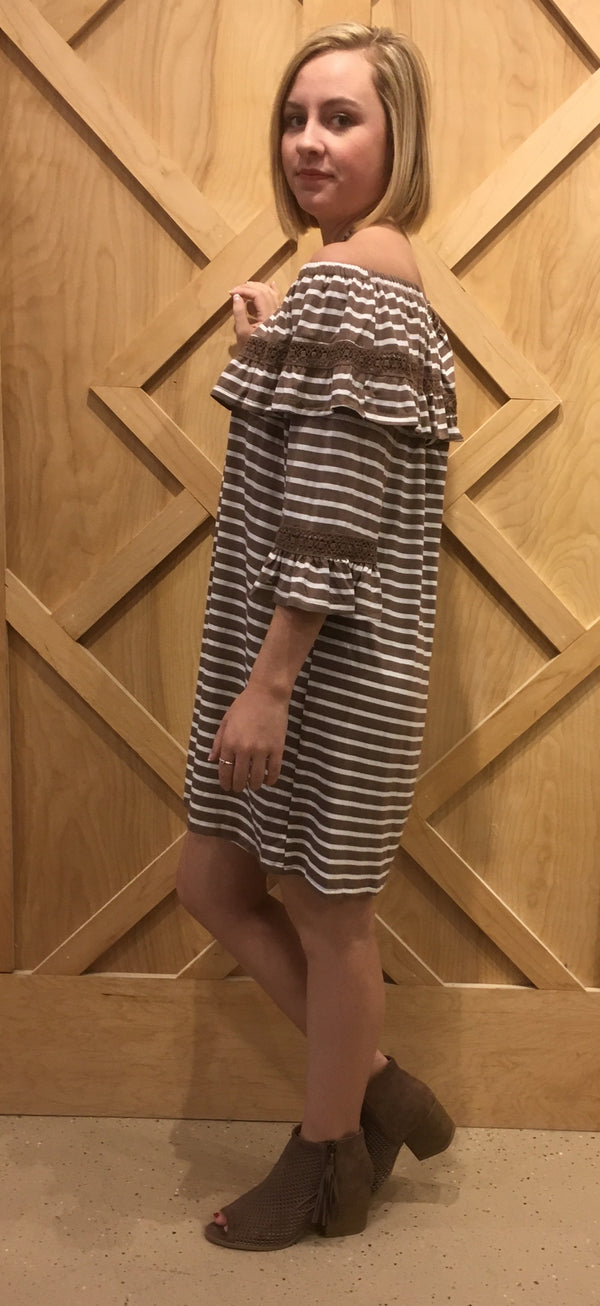 Striped Crochet Dress