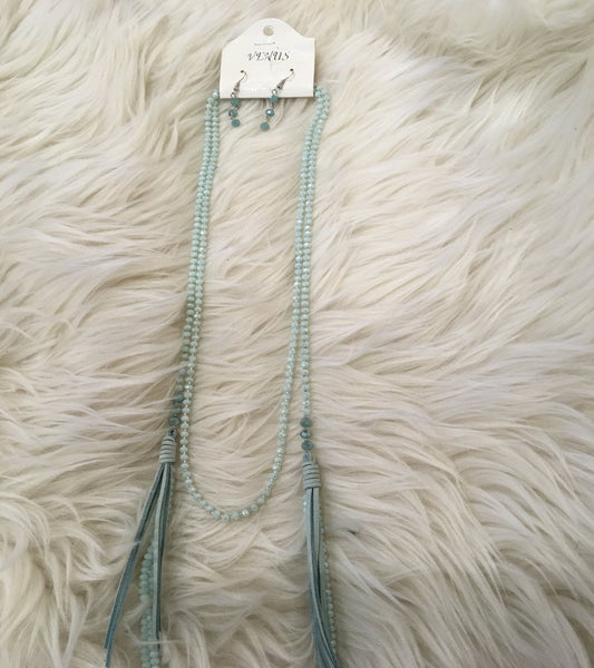 Tie Tassel Choker Necklace
