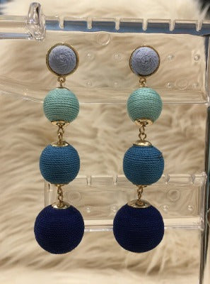 Blue Balls Earrings