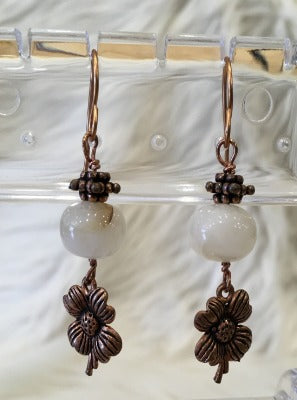 Bead and Brass Earrings