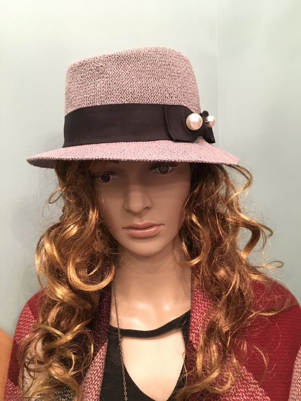 Pearl Bow Hat