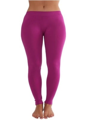 Ankle Length Leggings Magenta