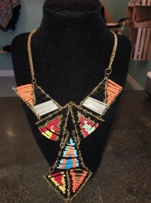 Colorful Triangle Beaded Necklace
