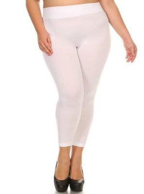 PLUS White Ankle Length Leggings