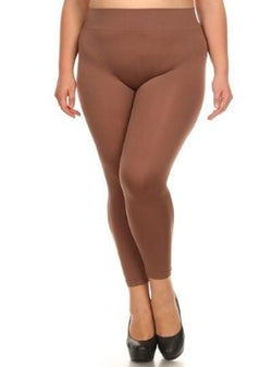 PLUS Tan Ankle Length Leggings