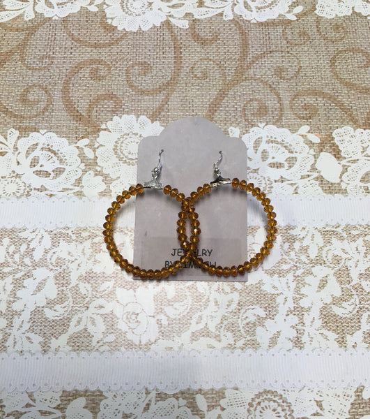 Sparkle Up Hoops Burnt Orange