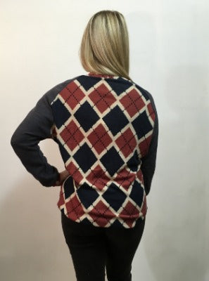 Argyle Dolman Top