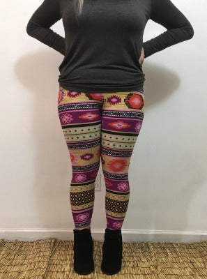 Diamond Print Leggings