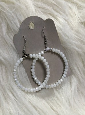 KB Hoop Earrings-white