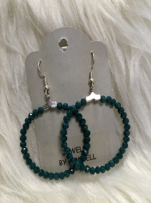 KB Hoop Earrings-Teal