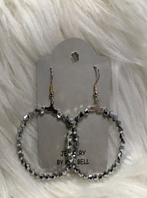 KB Hoop Earrings- Metallic
