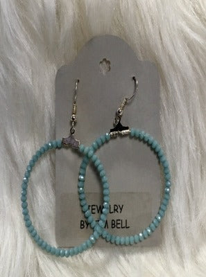 KB Hoop Earrings- Turkish Blue