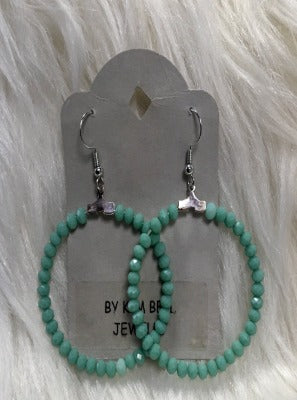 KB Hoop Earrings- Turquoise