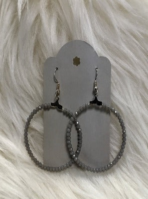 KB HOOP EARRINGS- GREY