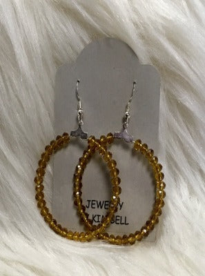 KB HOOP EARRINGS-MUSTARD