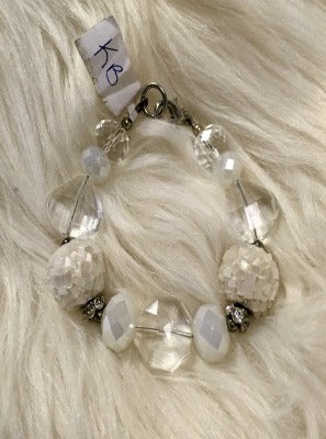 KB White Clear Bracelet