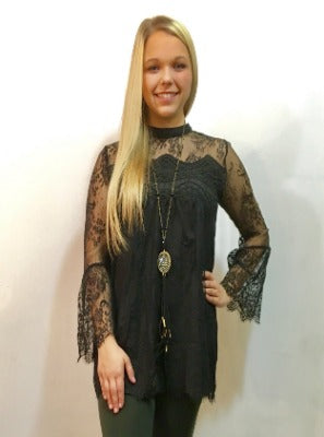 Black Beauty Lace Top