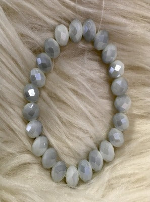 Grey Crystal Bead Bracelet