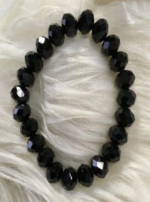 Black Crystal Beaded Bracelet