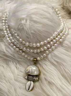 KB Fresh Water Pearl and Shell Necklace