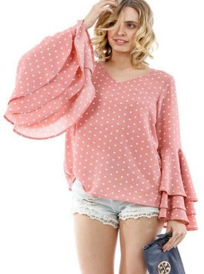 Blush Me Beautiful Long Bell Sleeve Top