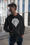 Löwe Hexagon dunkle Hoodies - Unisex