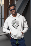 Löwe Hexagon helle Hoodies - Unisex