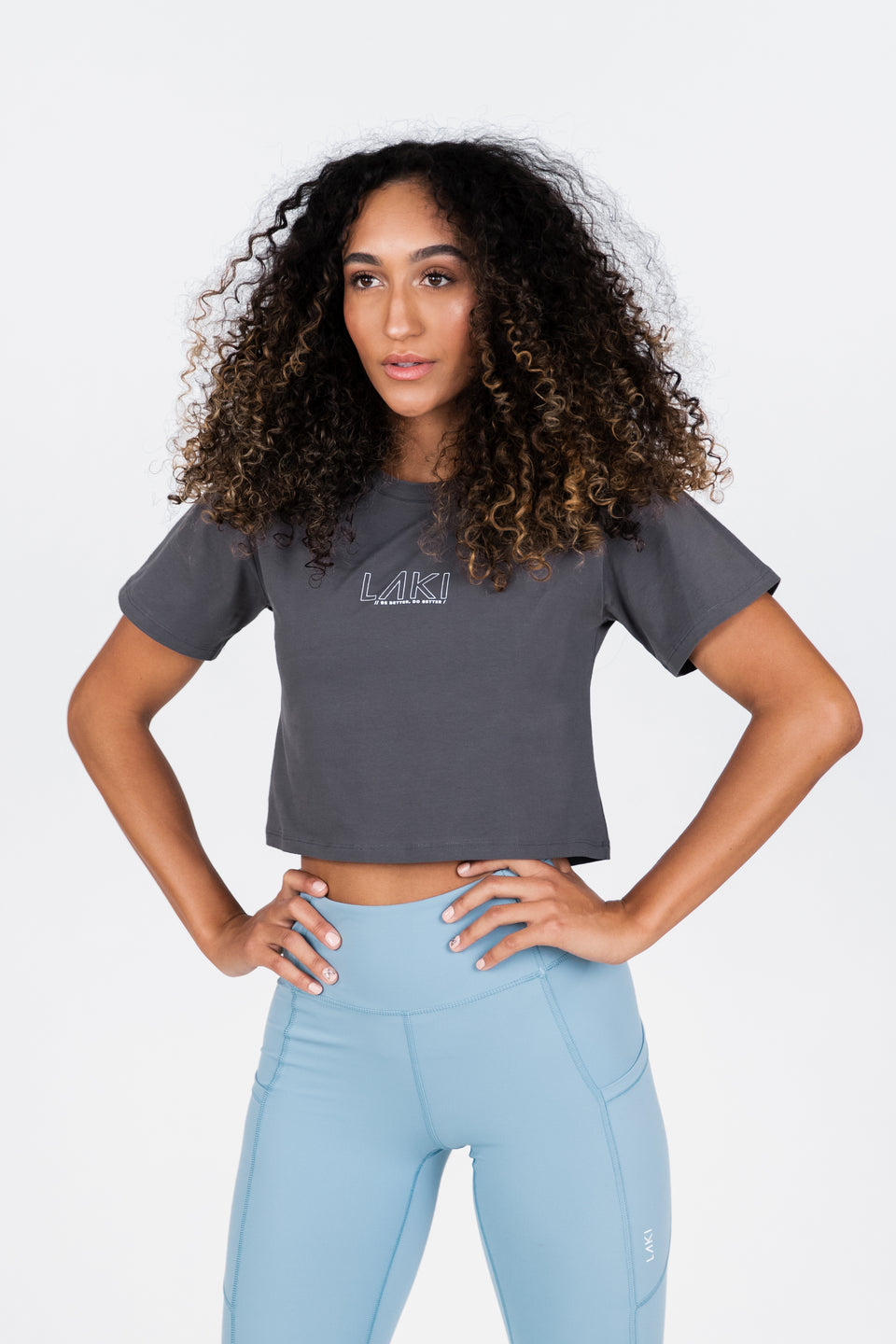 STATEMENT CROP TEE - ASH