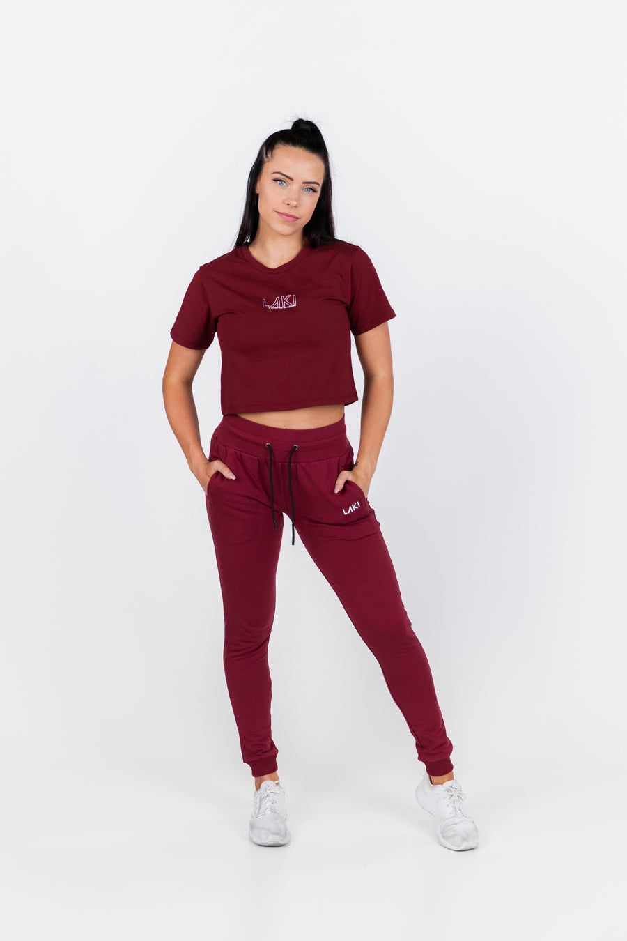 STATEMENT CROP TEE - SANGRIA