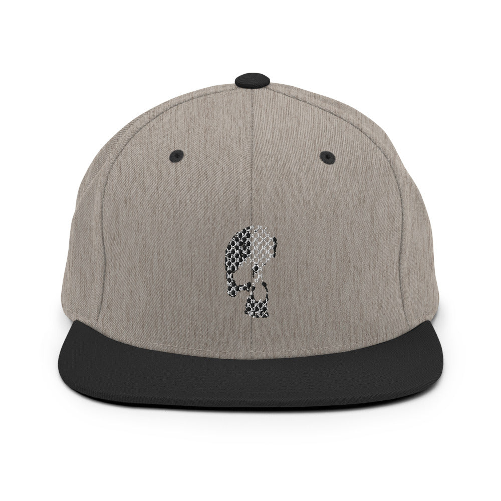 GUERRERO SKULL EMBROIDERED SNAPBACK HAT
