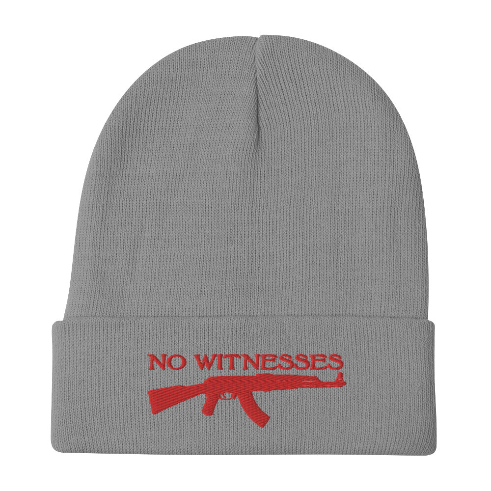NO WITNESSES EMBROIDERED BEANIE